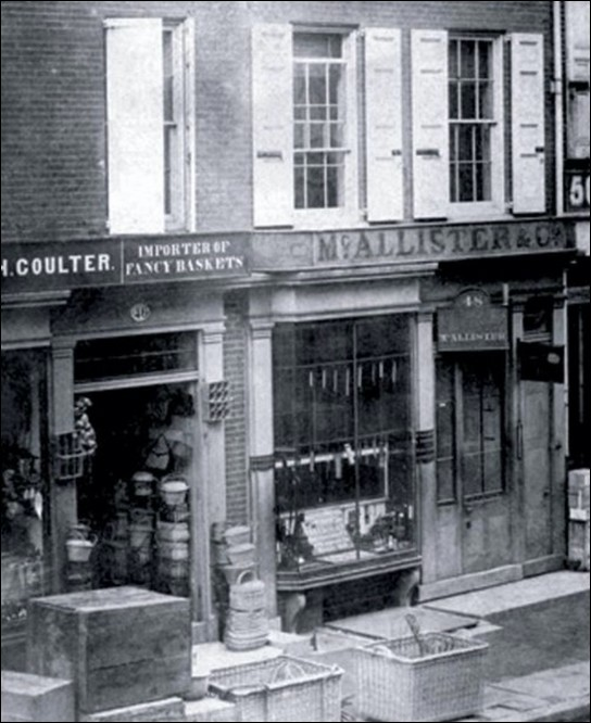 The McAllister & Co. shop at 48 Chestnut St., Philadelphia