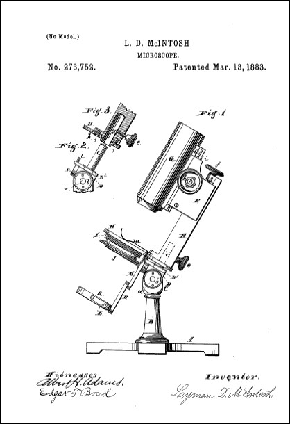 Lyman D. McIntosh patent March 13, 1883
