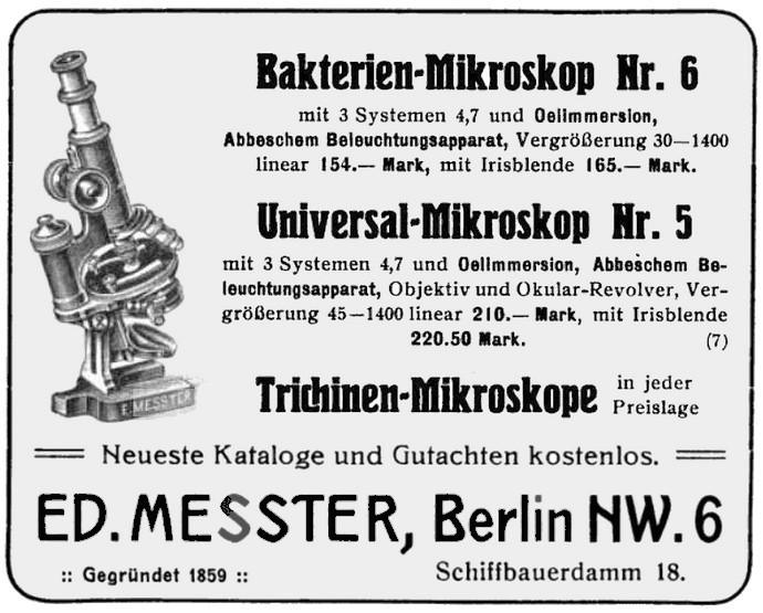 Messter microscope ad