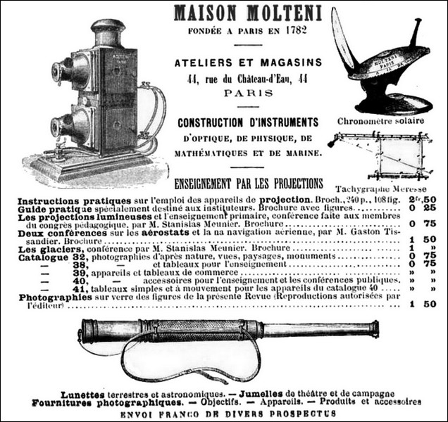 An 1885 Advertisement for Maison Molteni