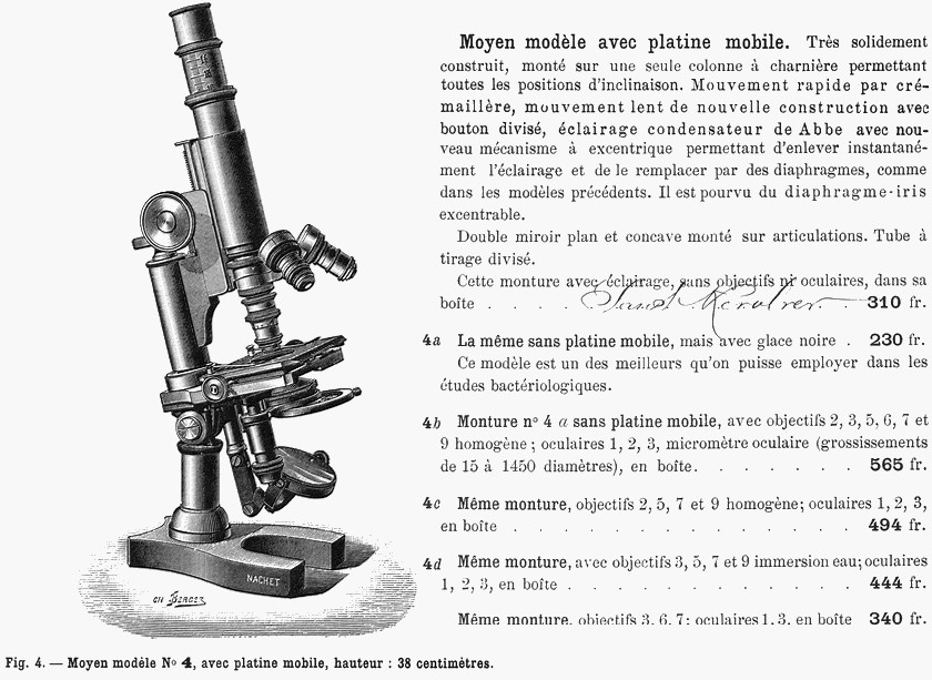 Nachet microscope 1892
