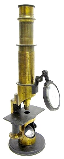 G. Oberhaeuser, Place Dauphine, Paris. #1812. Small drum microscope, c.1850