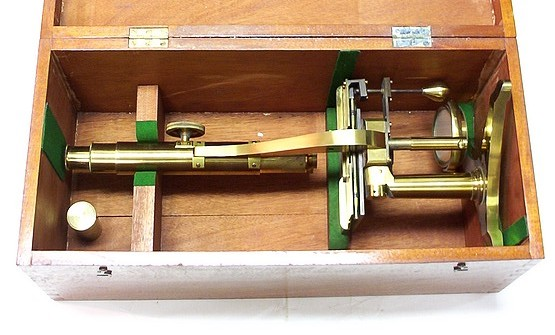Powell & Lealand, London. Student microscope with Varley stage, c. 1850