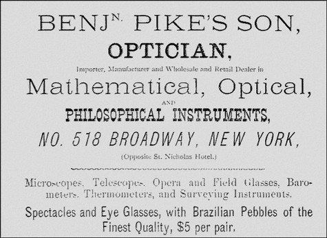 Pike's Son advertisment from  1871