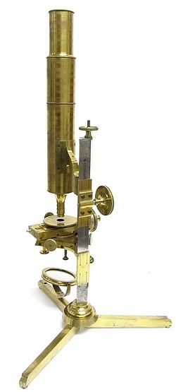 Plössl in Wien. Non-inclining Large Microscope, c. 1845