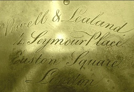 Powell & Lealand 1850 microscope signature