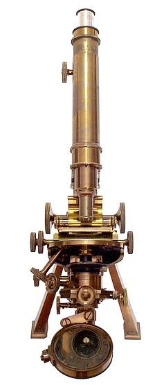 Powell and Lealand, The No.1 monocular microscope dated 1908