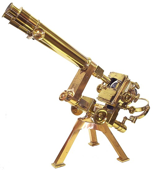 the Powell and lealand No. 1 brass microscope