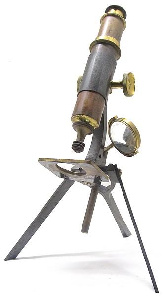 The Queen - Baker Tourist portable model microscope reversed mirror