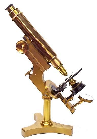 James W. Queen & Co., Phila., # 788. The Acme No. 3 Model Microscope. c. 1890
