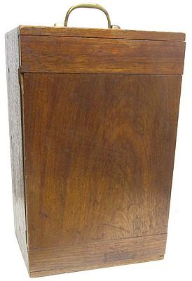James W. Queen & Co., Phila., # 1476. The Acme No. 4 Model Microscope. Storage case