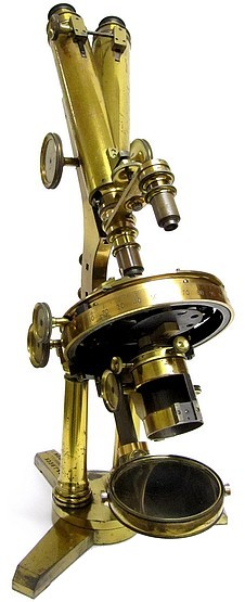 R.�& J. Beck, 31 Cornhill, London, #5703. The Large Best No. 1 model binocular microscope. c.1871