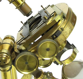 R.�& J. Beck, 31 Cornhill, London, #5703. The Large Best No. 1 model binocular microscope. c.1871. mechanical stage