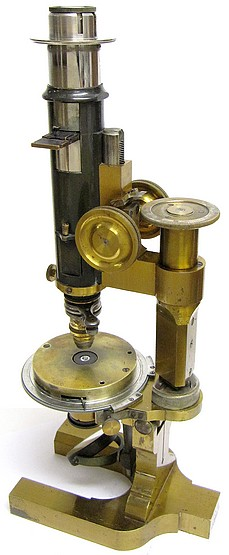 R. Fuess, Berlin - Steglitz, No.�0. Model No. III petrological microscope, c.1893