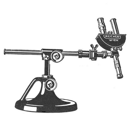 reichert wien, no.769, patent. multifunctional binocular stereo head