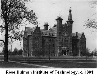 rose-hulman institute of technology campus in 1881