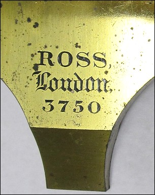ross london, 3750. first-class no.1 monocular microscope, c. 1873. signature