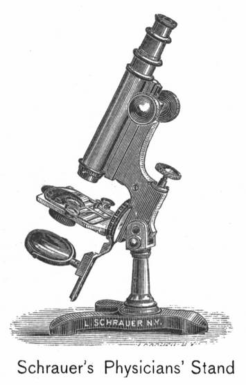 Schrauer's Physicians model microscope