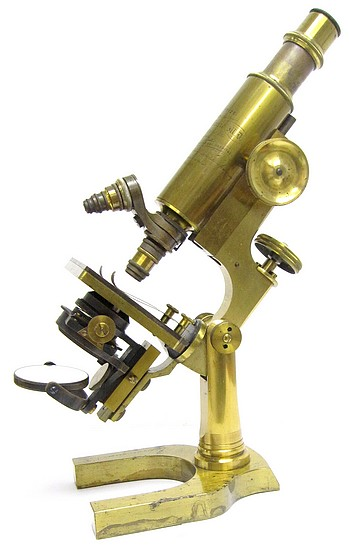 L. Schrauer, Maker, N. Y.. Second Prize Microscope Awarded to Joseph E. McKenzie, M.D., 1892