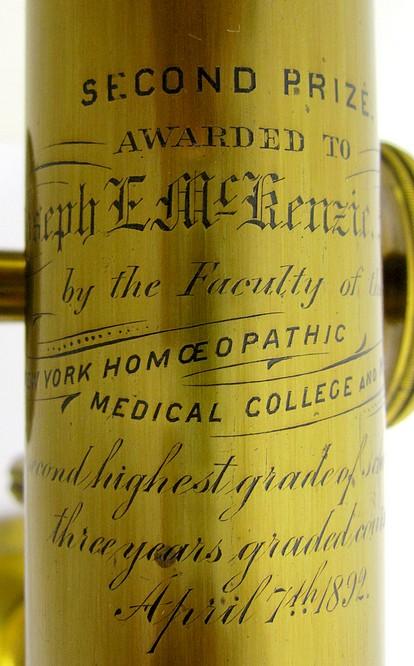 engraved tube