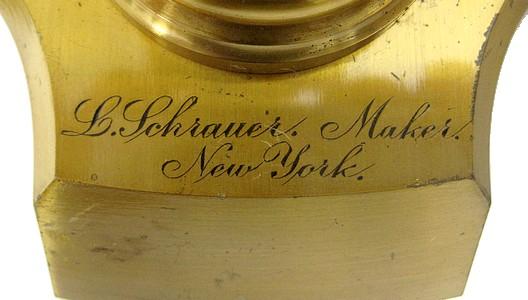 L. Schrauer, Maker, New York.