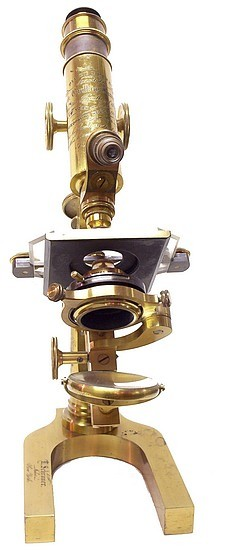 L. Schrauer, Maker, New York. Prize Microscope Awarded to Frank Caudkins Bunn, M.D., 1889