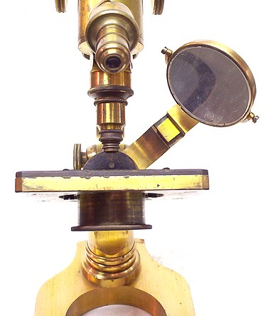 L. Schrauer, Maker, New York. Prize Microscope Awarded to Frederick Hills Cole, M.D., 1894. Mirror above the stage.