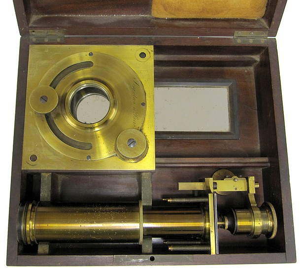 Secretan, Paris. Solar microscope, c. 1865. Stored in the case.