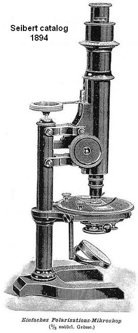 Seibert in Wetzlar. Polarizing-(Mineral) Microscope, c. 1895. Storage case