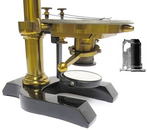 Seibert in Wetzlar. Polarizing(Mineral) Microscope, c. 1895. sub-stage
