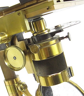 "Smith, Beck & Beck, 31 Cornhill, London, #4375. The ""Large Best"" model microscope. Substage"