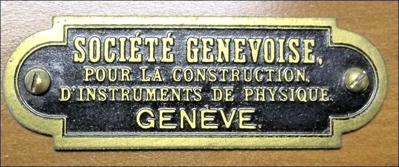 Société Genevoise pour la Construction d'Instruments de Physique, Geneve