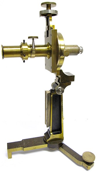 Société Genevoise pour la Construction d'Instruments de Physique, Geneve. Metrological microscope(measuring microscope), c. 1900. Horizontal
