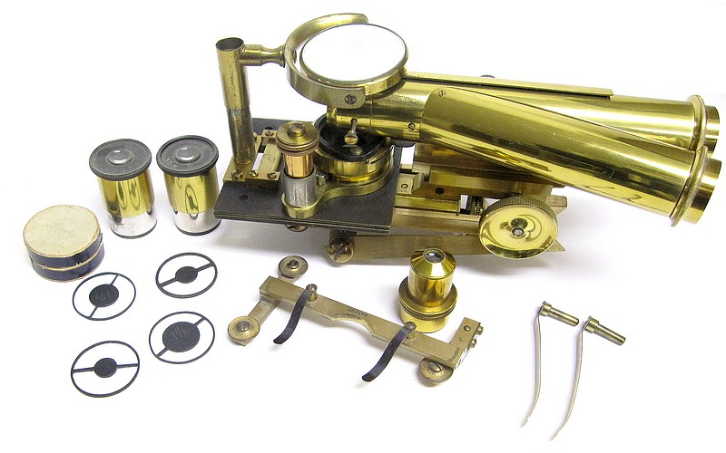 J. Swift & Son, No. 260. Portable Clinical and Field Binocular Microscope
