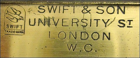 Swift & Son, University St, London W.C. with the Swift bird trade mark
