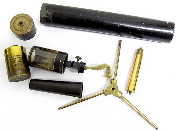 J. Swift, 43 University St., London W.C., Registered. Portable microscope lamp, c. 1874