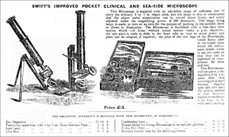 Swift seaside and clinical pocke microscope