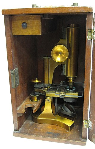 T.H. McAllister, N. Y. The Physician's Model Microscope, c.1880. In storage case