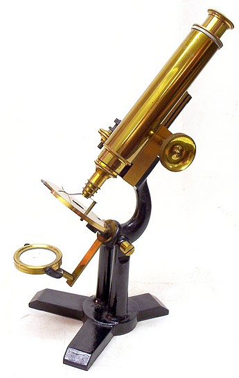 E.H. & F.H. Tighe, Detroit Mich.. Small monocular microscope, c. 1890