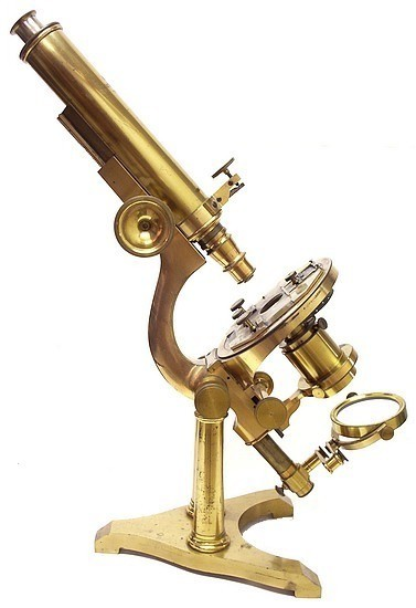 Boston Optical Works, Tolles Serial No. 15. The B Model Microscope. c 1870