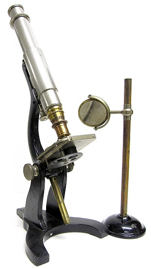 tolles student microscope with stand for the mirror