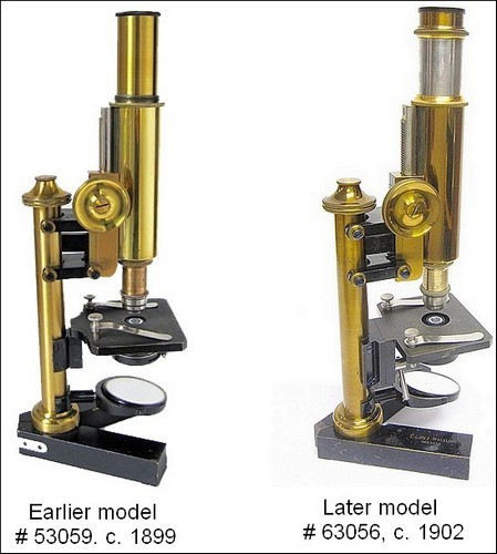 Two versions Leitz of the Small Travelling microscopes