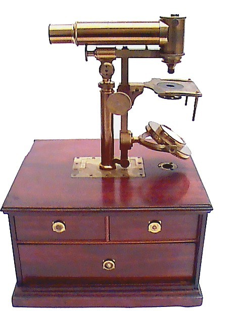 Made for Widdifield & Cie, Boston . A Rare Universal Microscope Sold by a Boston Retailer. c. 1840-1855