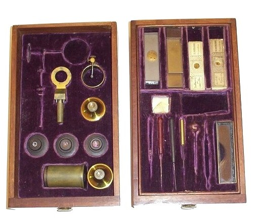 Made for Widdifield & Cie, Boston. A Rare Universal (inverted) Microscope Sold by a Boston Retailer. c. 1840-1855