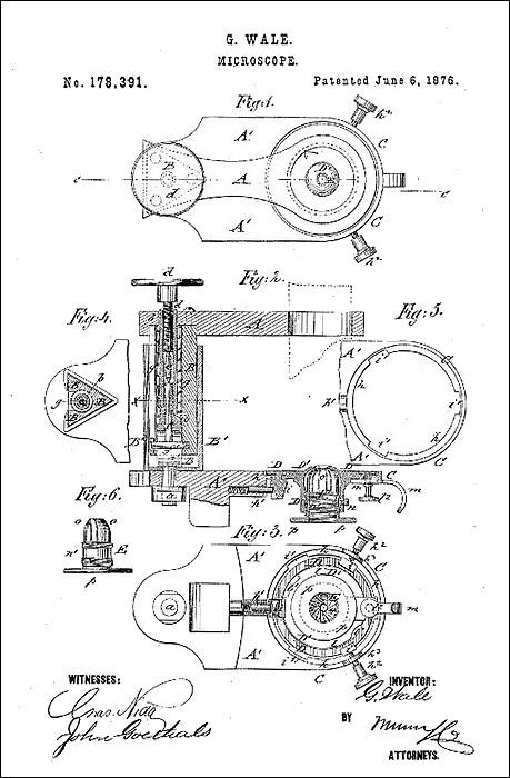 Wale microscope patent