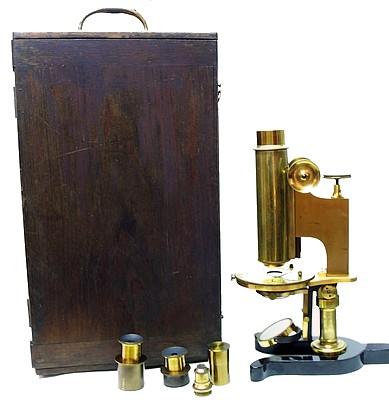 Yawman & Erbe. Monocular microscope, c. 1880