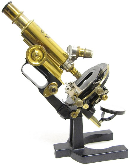 Carl Zeiss, Jena No. 51081. The Model IIIE microscope with large mechanical stage, c. 1910