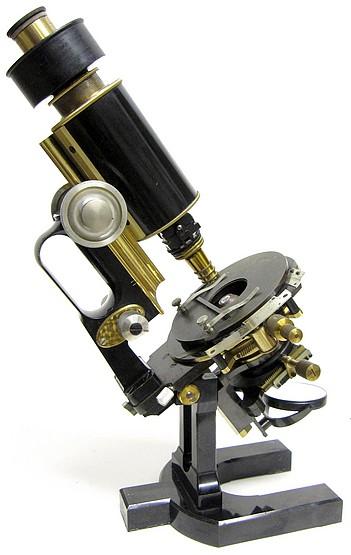 Carl Zeiss, Jena No. 32540. Microscope Ic for Photomicrography and Projection. Berger's New Model (Jug Handle)
