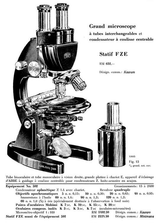 Zeiss FZE model microscope
