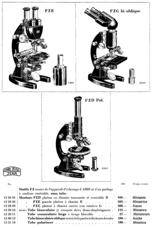 Zeiss F series Microscopes